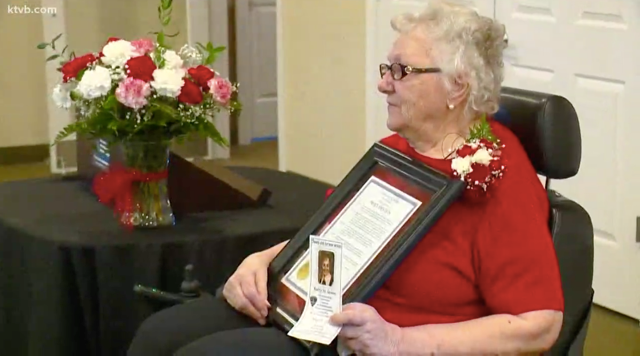 Boise Police Honours Betty Green